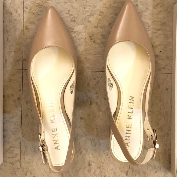 bde55e7ee16 NUDE Anne Klein Expert Kitten heel pumps